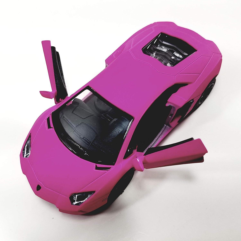 Kinsmart HOT Pink Matte Aventador LP-700 1//38 O Scale Diecast Car