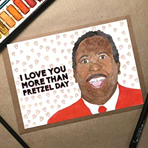 Pretzel Day, The Office Birthday Card, Stanley The Office, Anniversary Card Wife, Husband Birthday Card