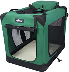 EliteField 3-Door Folding Soft Dog Crate, Indoor & Outdoor Pet Home, Multiple Sizes and Colors Available (24