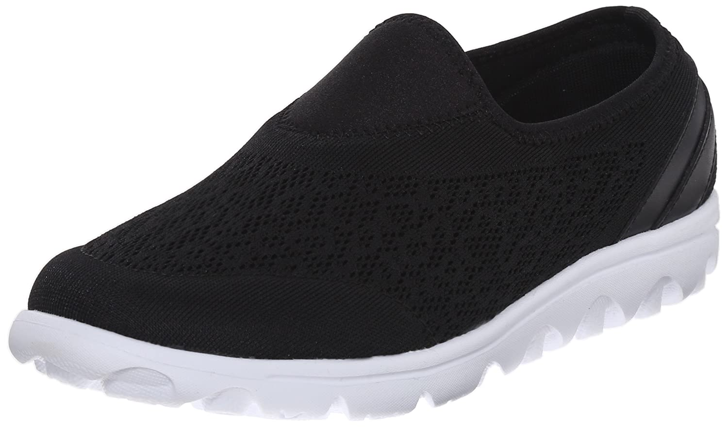 Propet Women's TravelActiv Slip-On Fashion Sneaker B0118GBHNS 9.5 B(M) US|Black