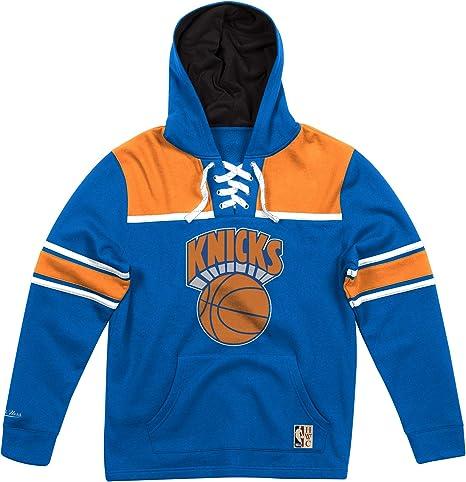 Mitchell Ness New York Knicks Lacer Jersey Hoodie Nba Sweatshirt Blue Amazon Co Uk Clothing