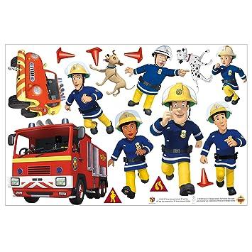 Bilderwelten Wandtattoo - Feuerwehrmann Sam - Helden, 40cm x 60cm ...