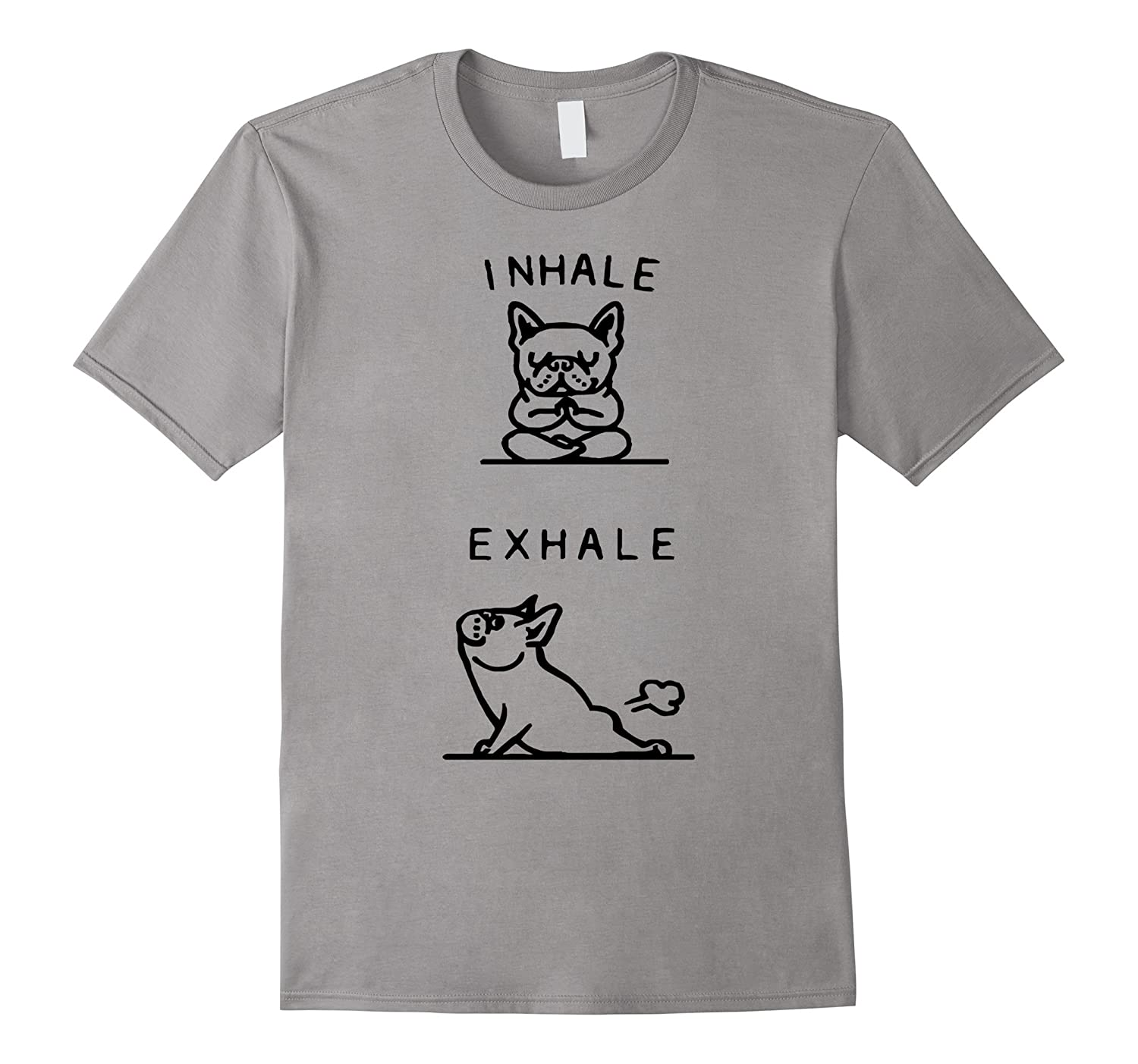 Yoga Tshirts - French Bulldog Yoga Funny Shirt-TD