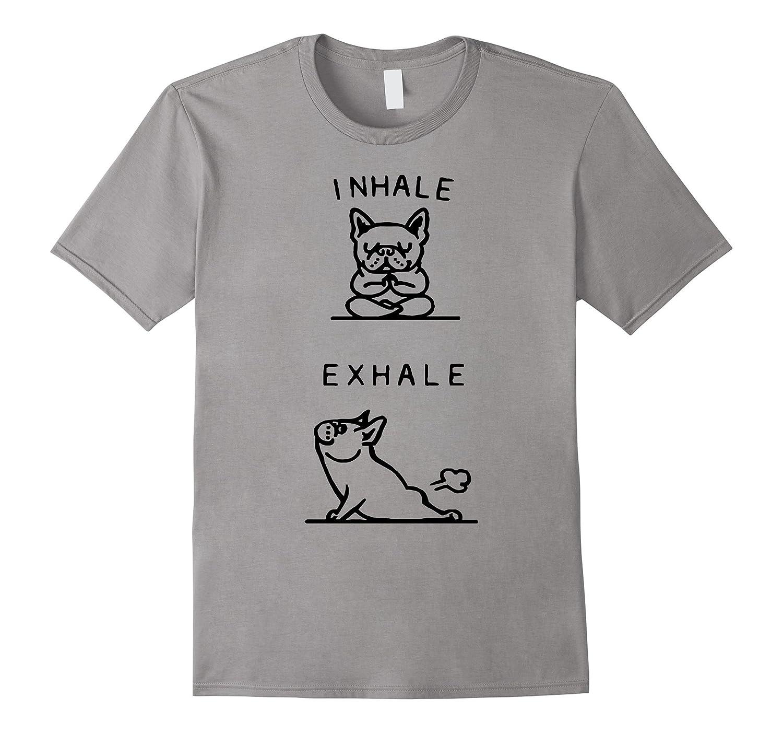 Yoga Tshirts - French Bulldog Yoga Funny Shirt-TD