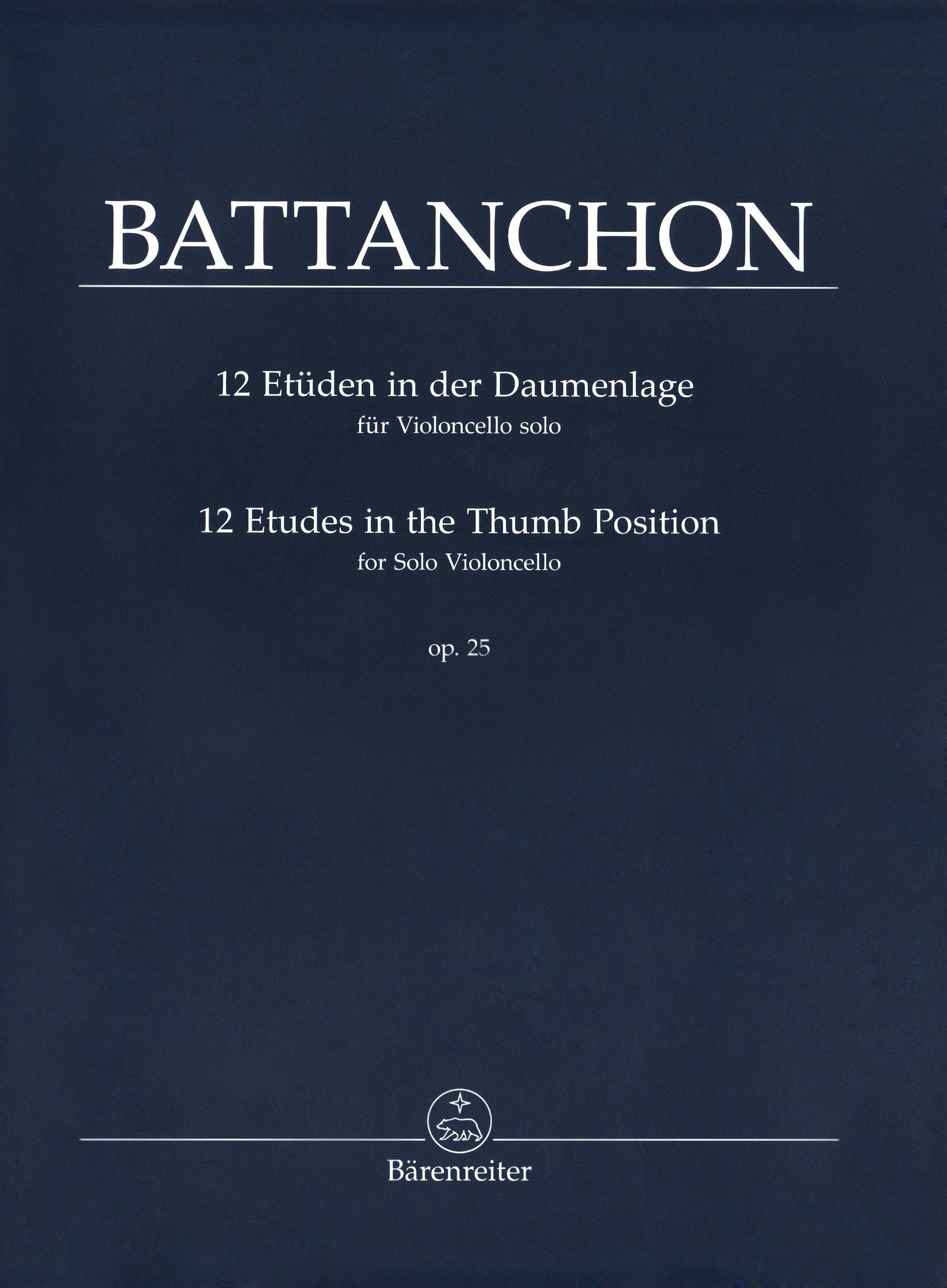Download Battanchon: 12 Cello Etudes in the Thumb Position, Op. 25 pdf epub