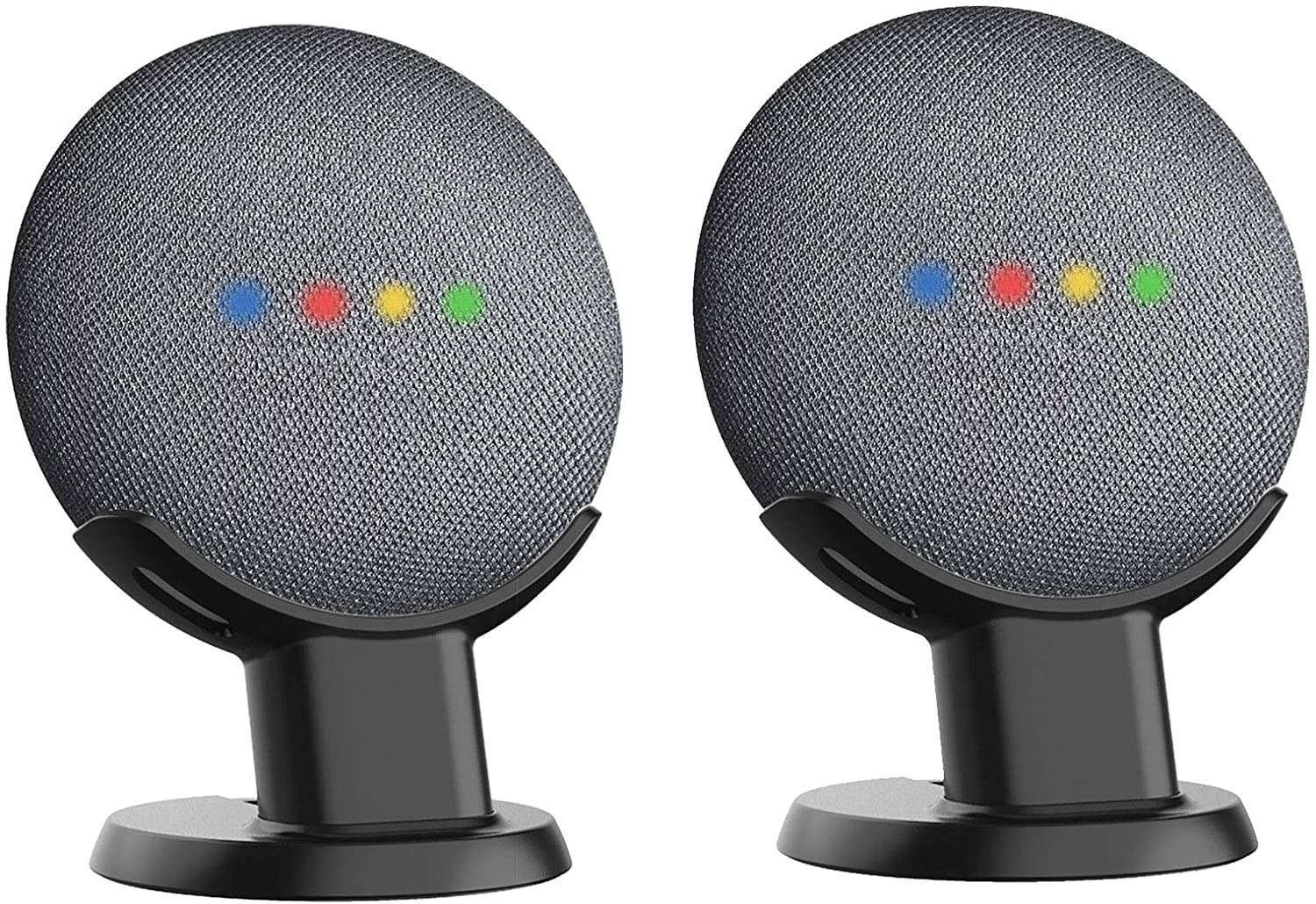 Cleanest Mount Holder Stand for Mini Silver 1st Gen Mount Genie Pedestal for Nest Mini and Google Home Mini 2nd Gen | Improves Sound and Appearance