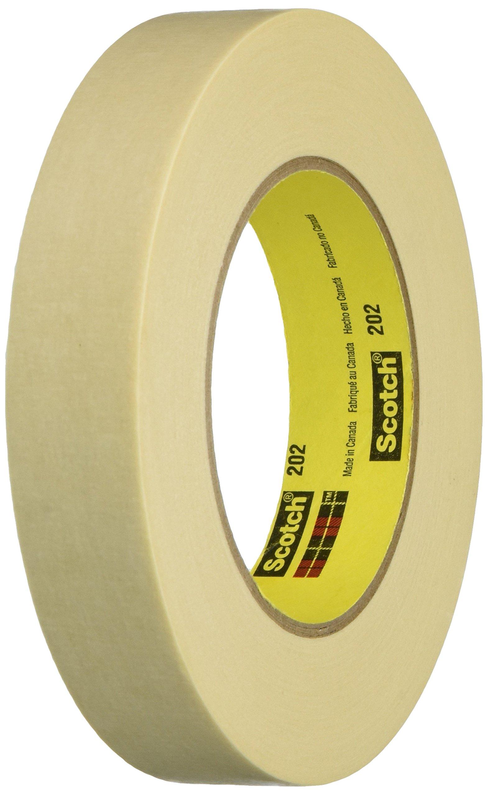 Scotch Masking Tape, 1 inch x 60 yards, Tan, 1 Roll of Tape (202)