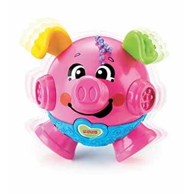 Fisher-Price Brilliant Basics Bounce & Giggle Pig: Toys & Games