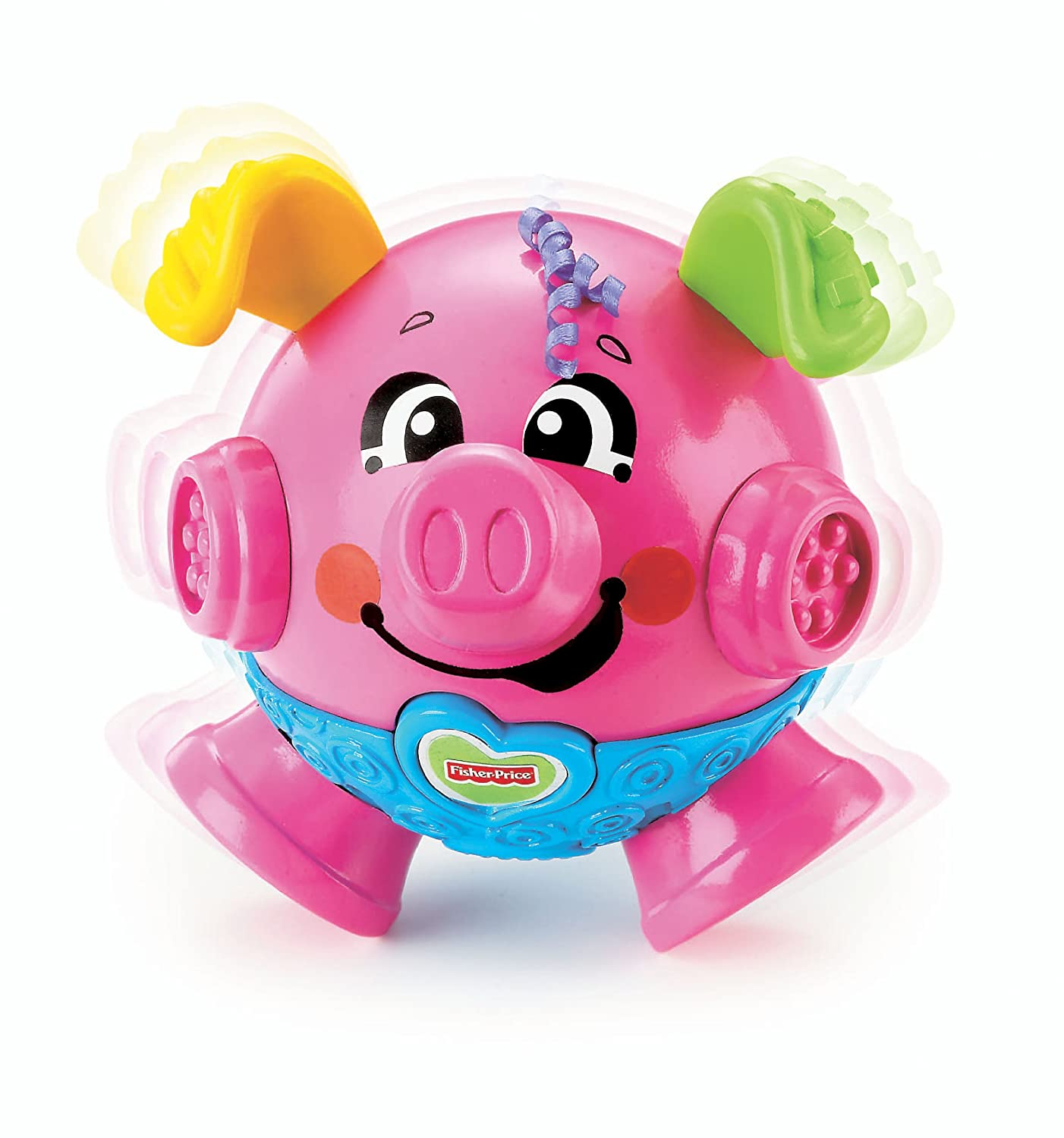 Amazon Fisher Price Brilliant Basics Bounce & Giggle Pig