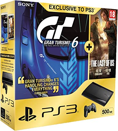Sony Playstation 3 500 GB Super Slim Console With Gran Turismo 6 ...