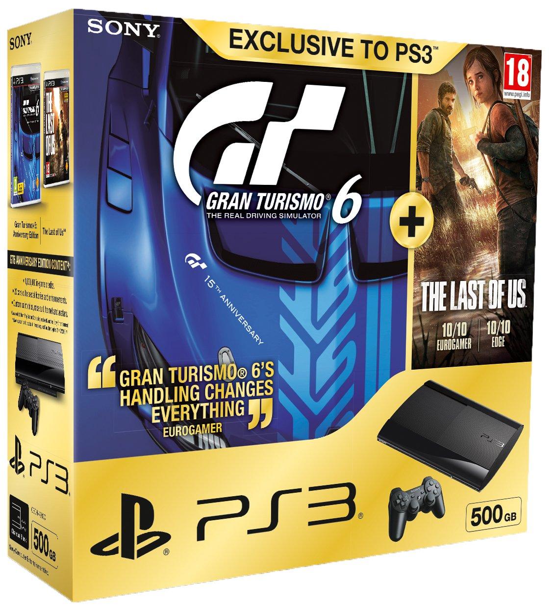 Sony PS3 500GB Super Slim Console with Gran Turismo 6 Plus