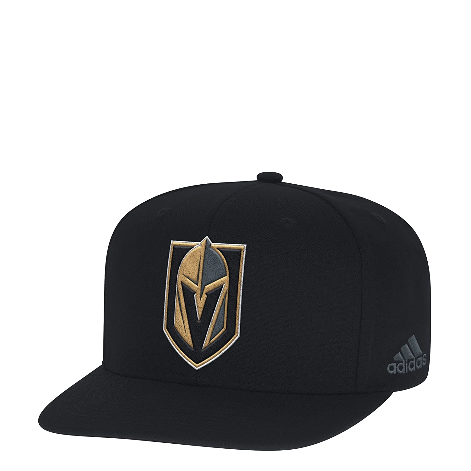 bbfe4a3554f Amazon.com   adidas Las Vegas Golden Knights Black Snapback Adjustable Hat    Sports   Outdoors