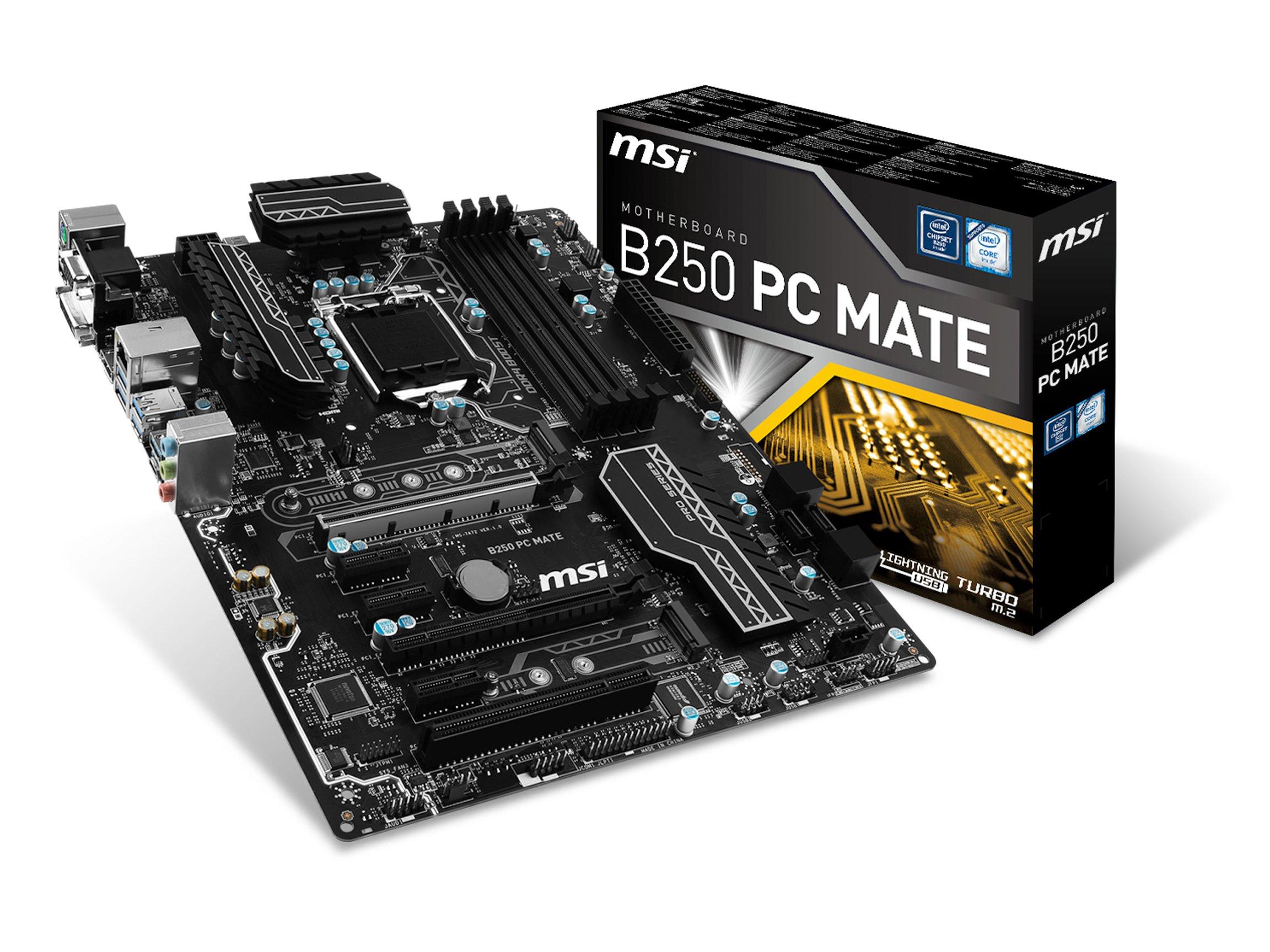 MSI Pro Series Intel B250 LGA 1151 DDR4 HDMI USB 3.1 ATX Motherboard (B250 PC MATE)
