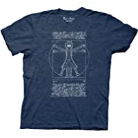 Ripple Junction Rick and Morty Vitruvian Rick T-Shirt