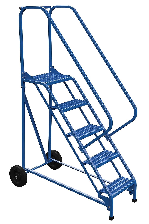 Vestil LAD-RAF-5-G-EZ - Escalera enrollable plegable, 50 grados, 5 peldaños, color azul: Amazon.es: Amazon.es