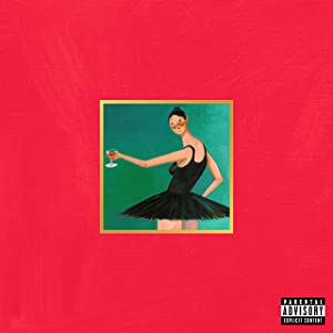 Youngpin Kanye West My Beautiful Dark Twisted Fantasy Art Poster Print,Unframed 20x20 Inches