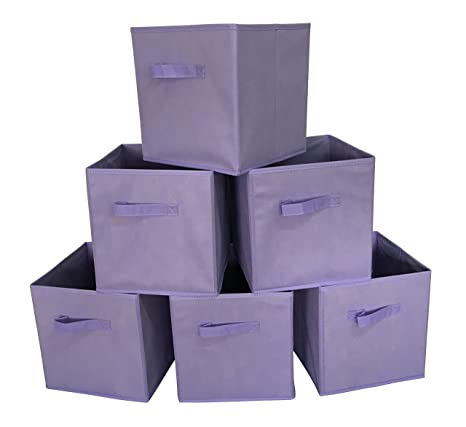 02a53926f3a0 Sodynee New Foldable Cloth Storage Cube Basket Bins Organizer Containers  Drawers, 6 Pack
