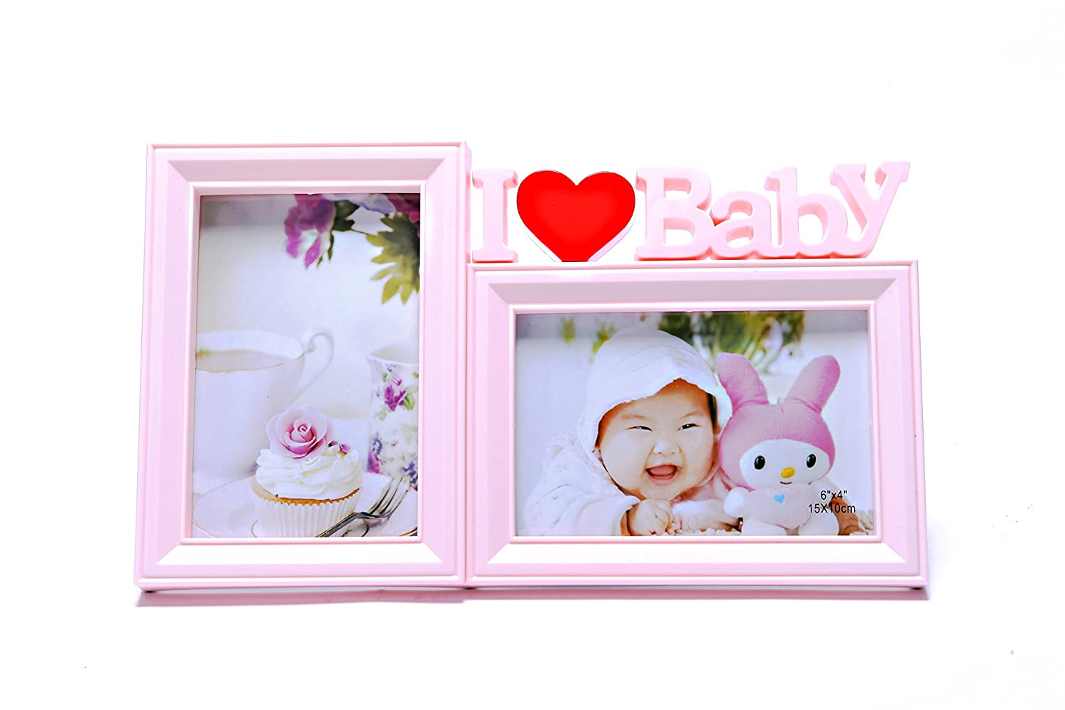 Sweet US Mall Premium Plastic Double Photo Frame,