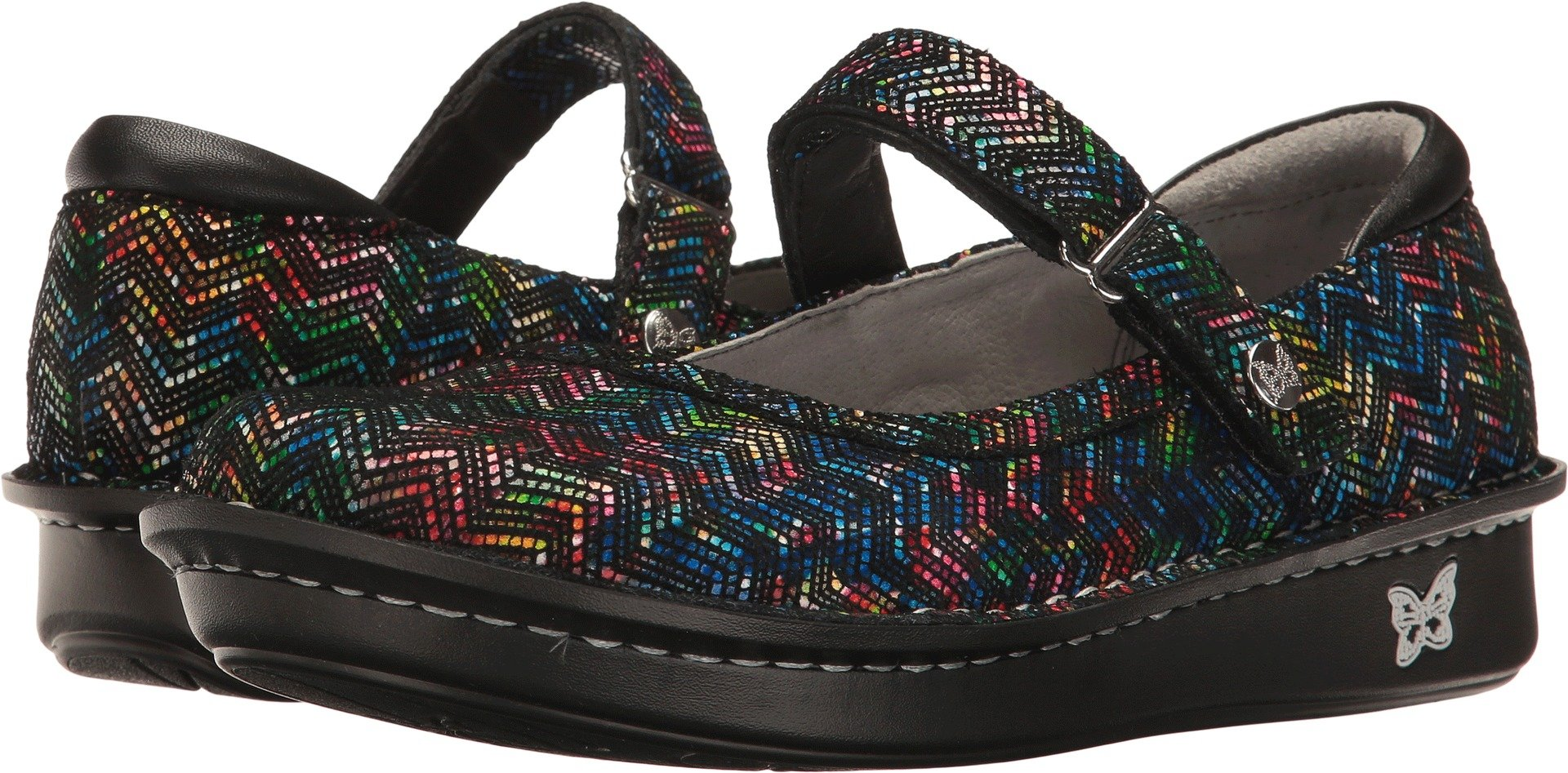 Alegria Women's Belle Ric Rack Rainbow Mary Jane Size 38