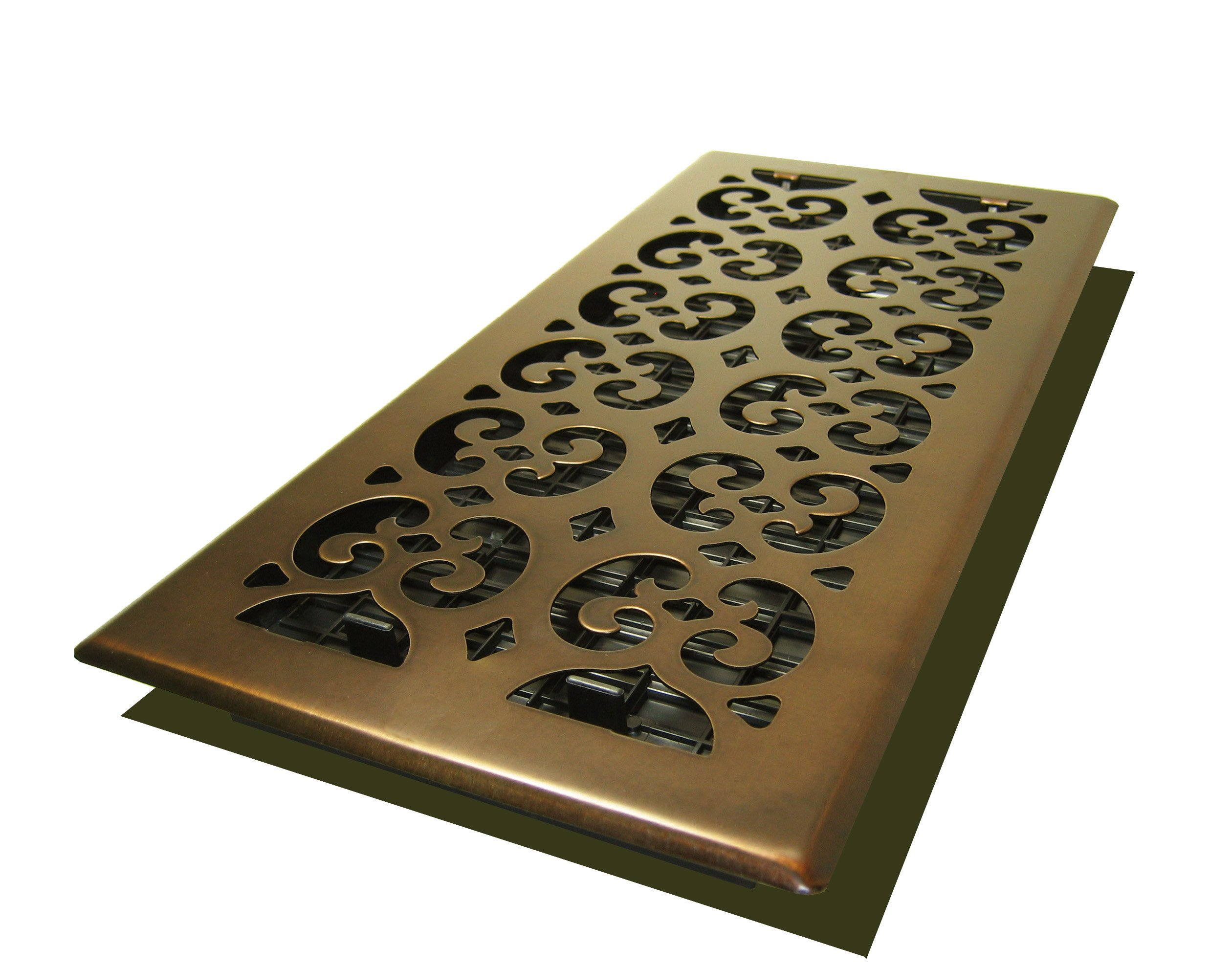 Decor Grates SPH614-RB Scroll Floor Register, 6-Inch by 14-Inch, Rubbed Bronze