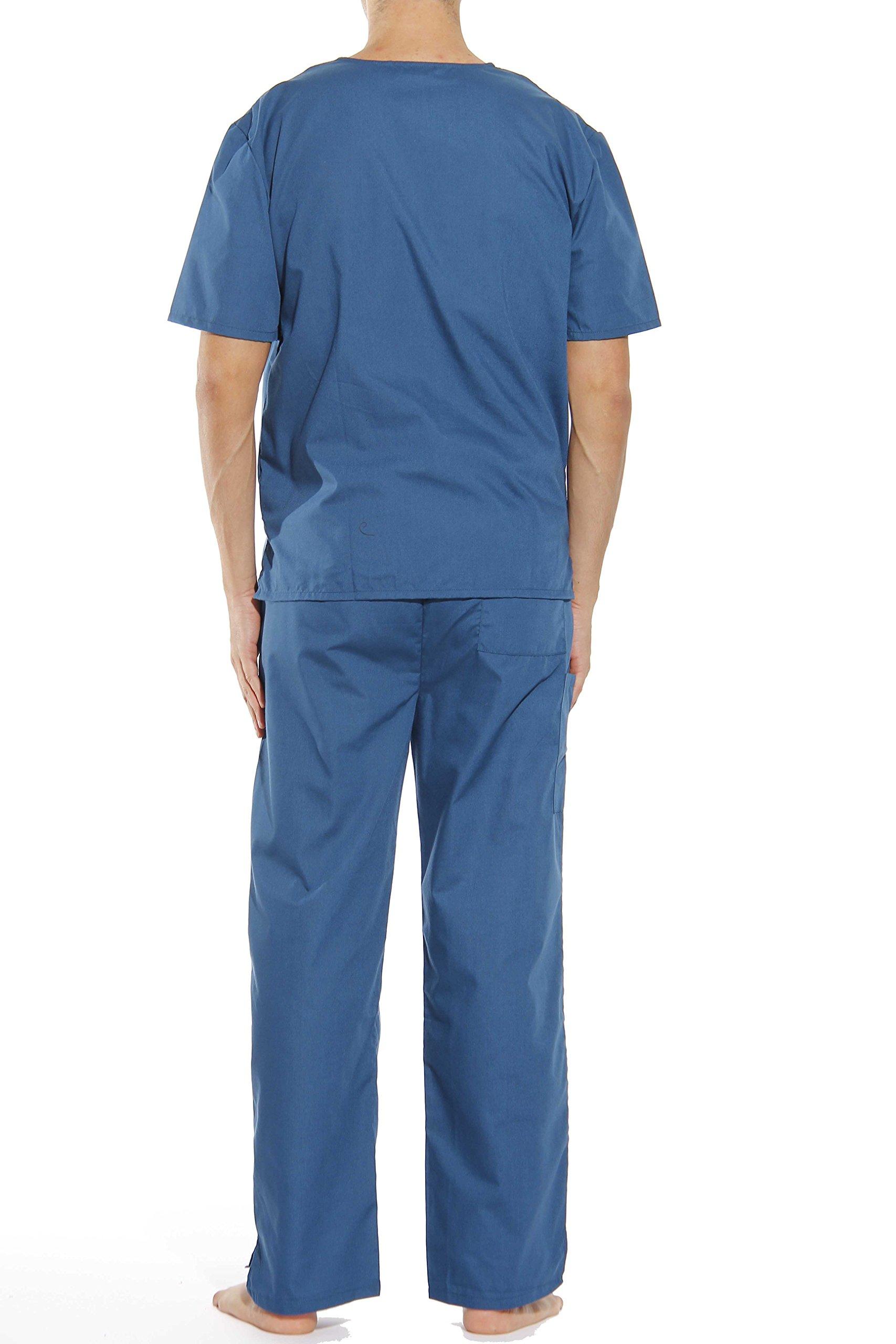 33000M-Carribean Blue-M Tropi Unisex Scrub Sets / Medical Scrubs / Nursing Scrubs by Tropi (Image #3)