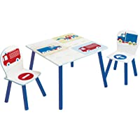 Vehicles Kids Table and 2 Chairs Set by HelloHome