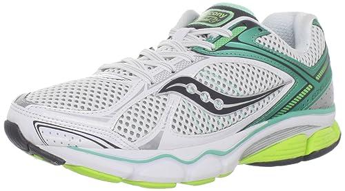 Saucony Women's Progrid Echelon 3 Running Shoe,White/Green/Citron,5 W