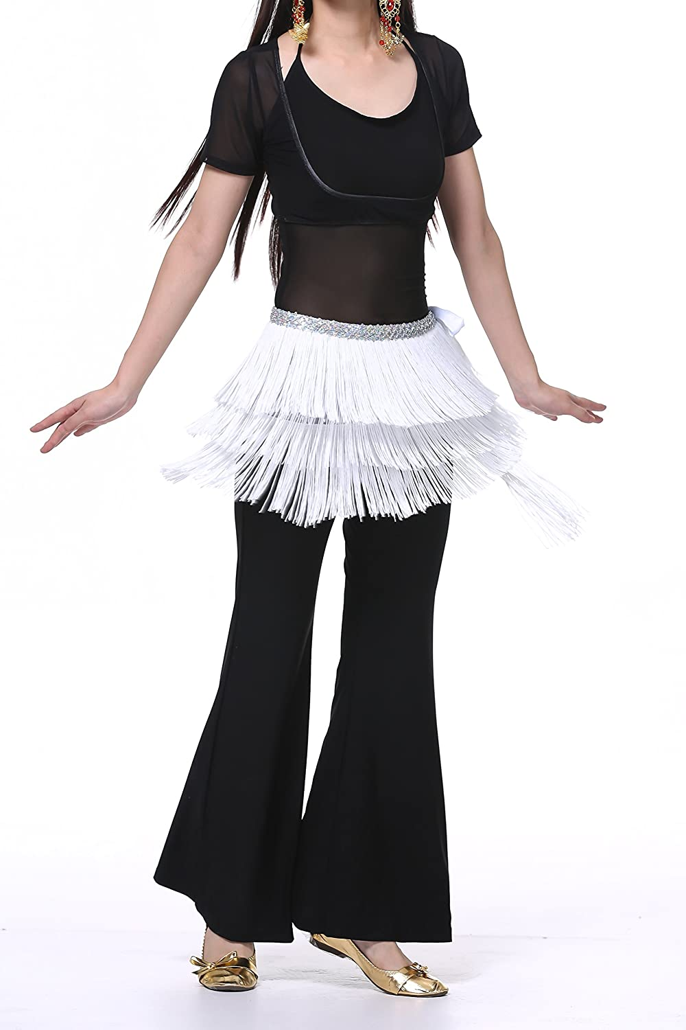 Belly Dance Hip Scarf for Women with Fringes