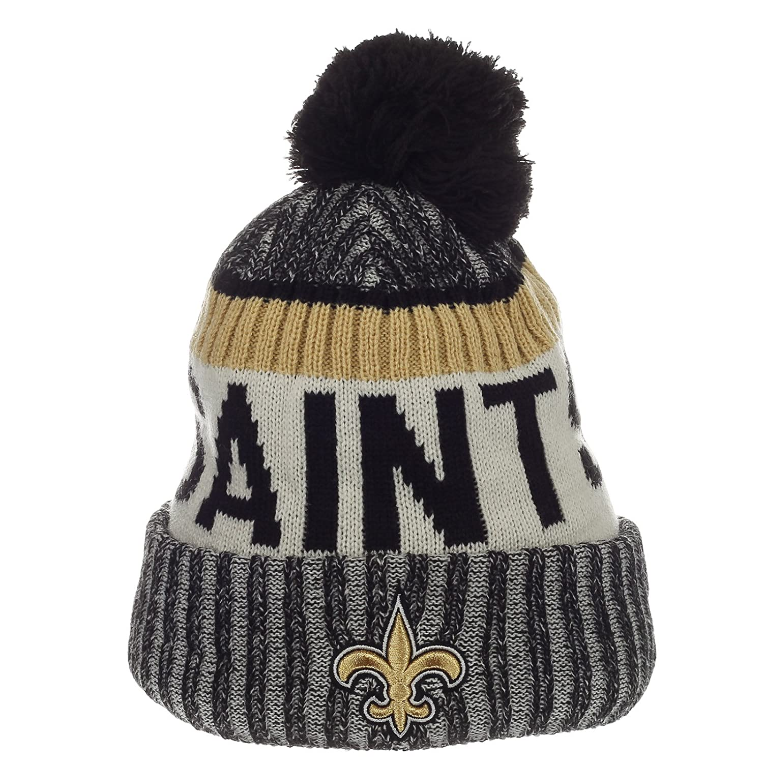 Amazon.com   New Era New Orleans Saints NFL Sideline On Field 2017 Sport  Knit Beanie Beany   Sports   Outdoors b9b7ef79517