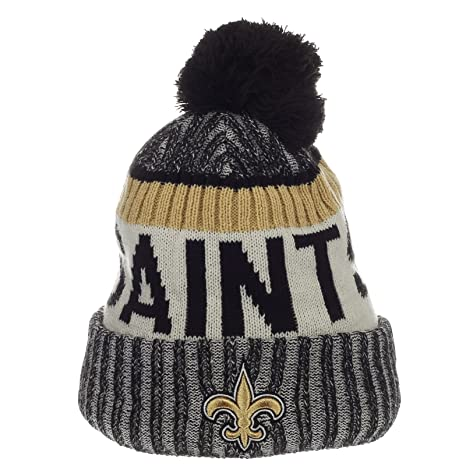 977c62846f7ba1 Image Unavailable. Image not available for. Color: New Era New Orleans  Saints NFL Sideline On Field 2017 Sport Knit Beanie Beany
