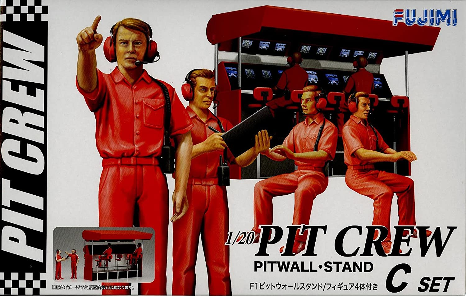 Formula 1 Pit Crew Set A 1:20 Figure Plastic Model Kit FUJIMI