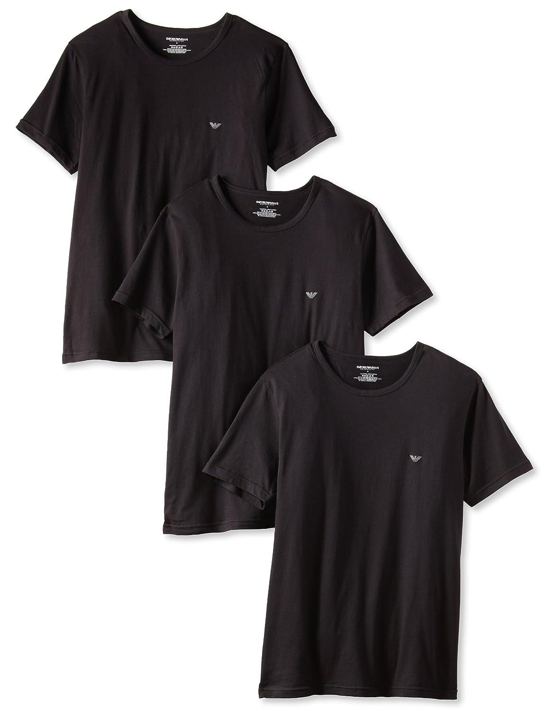 Black t shirt pack - Emporio Armani Men S Crew Neck Lift T Shirt Pack Of 3 At Amazon Men S Clothing Store