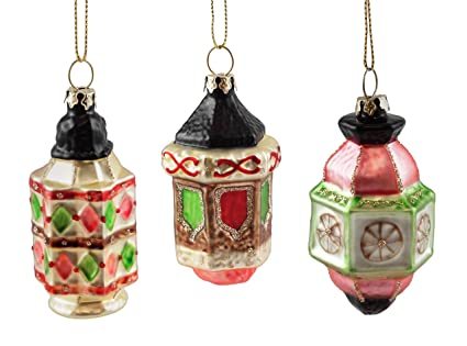 Amazon.com: Chinatown Chinese Lantern Hanging Christmas Ornaments ...