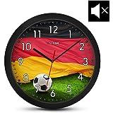 ONETIME Kinderwanduhr (Ø) 30,5 cm Kinder Wanduhr mit lautlosem Uhrenwerk und Deutschland Fußball Design