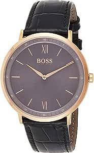 Hugo Boss Reloj Analógico para Hombre de Cuarzo con Correa en Cuero 1513649