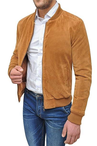 camoscio cammello cappotto Backer beige Tony casual uomo Giacca XAwC0xWxqF