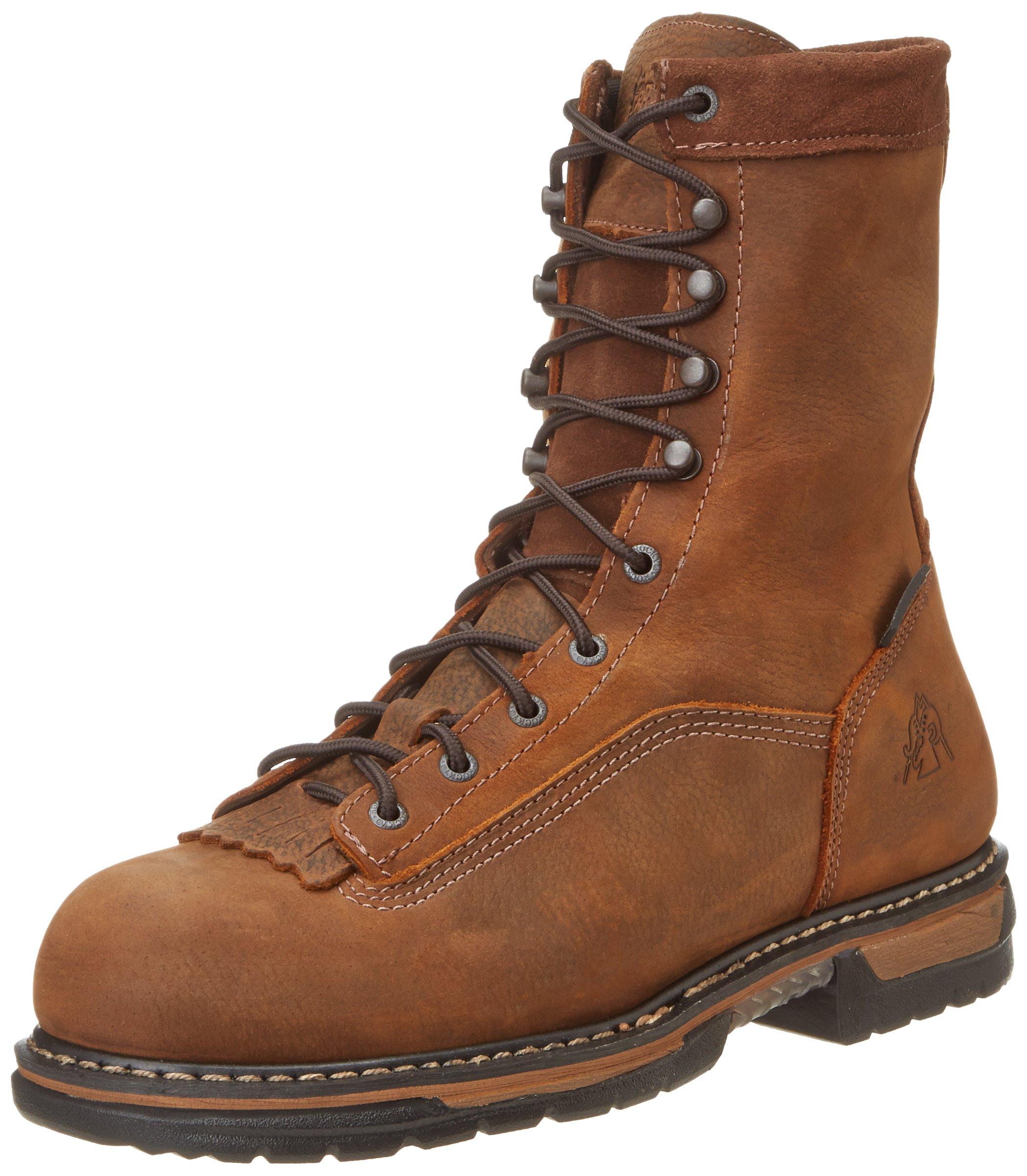Rocky Men's Iron Clad Eight Inch LTT Steel Toe Work Boot,Brown,13 M US by Rocky (Image #1)