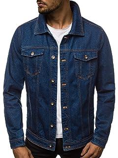 OZONEE Herren Übergangsjacke Jeans Jeansjacke Denim Klassiker Vintage B//5002X