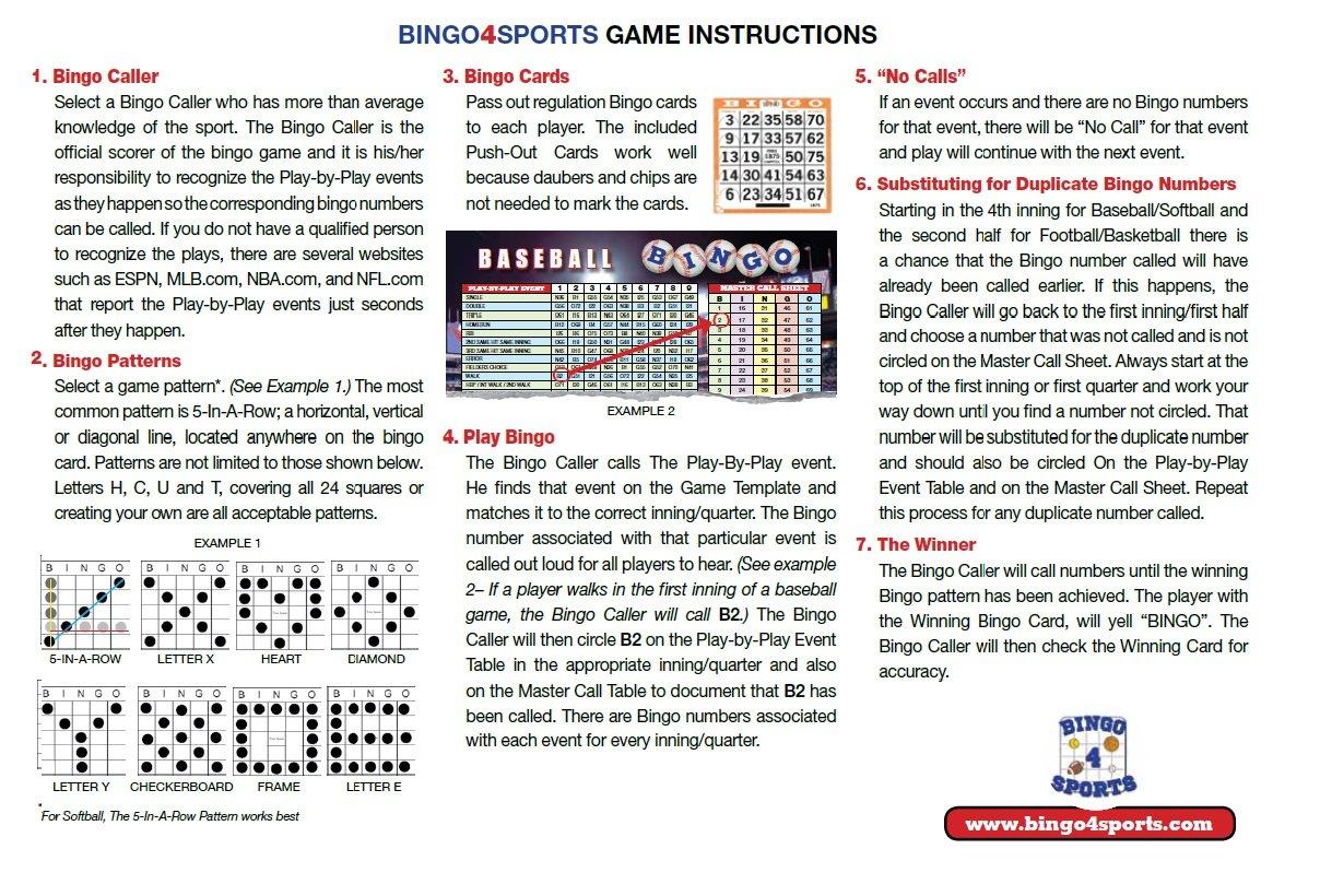 Amazon.com: Bingo4Sports Baseball Bingo Game - The Perfect Watch ...
