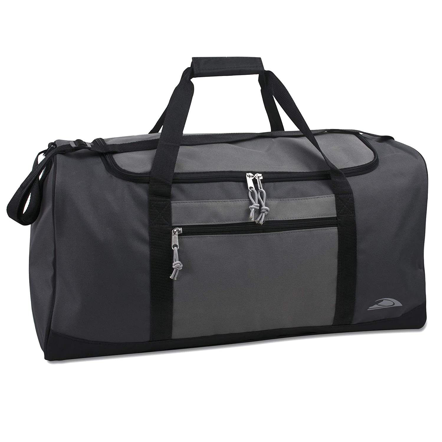 Lightweight Canvas Duffle Bags for Men Women For Traveling, the Gym, and as Sports Equipment Bag Organizer Grey 3
