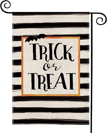 trick or treat garden flag