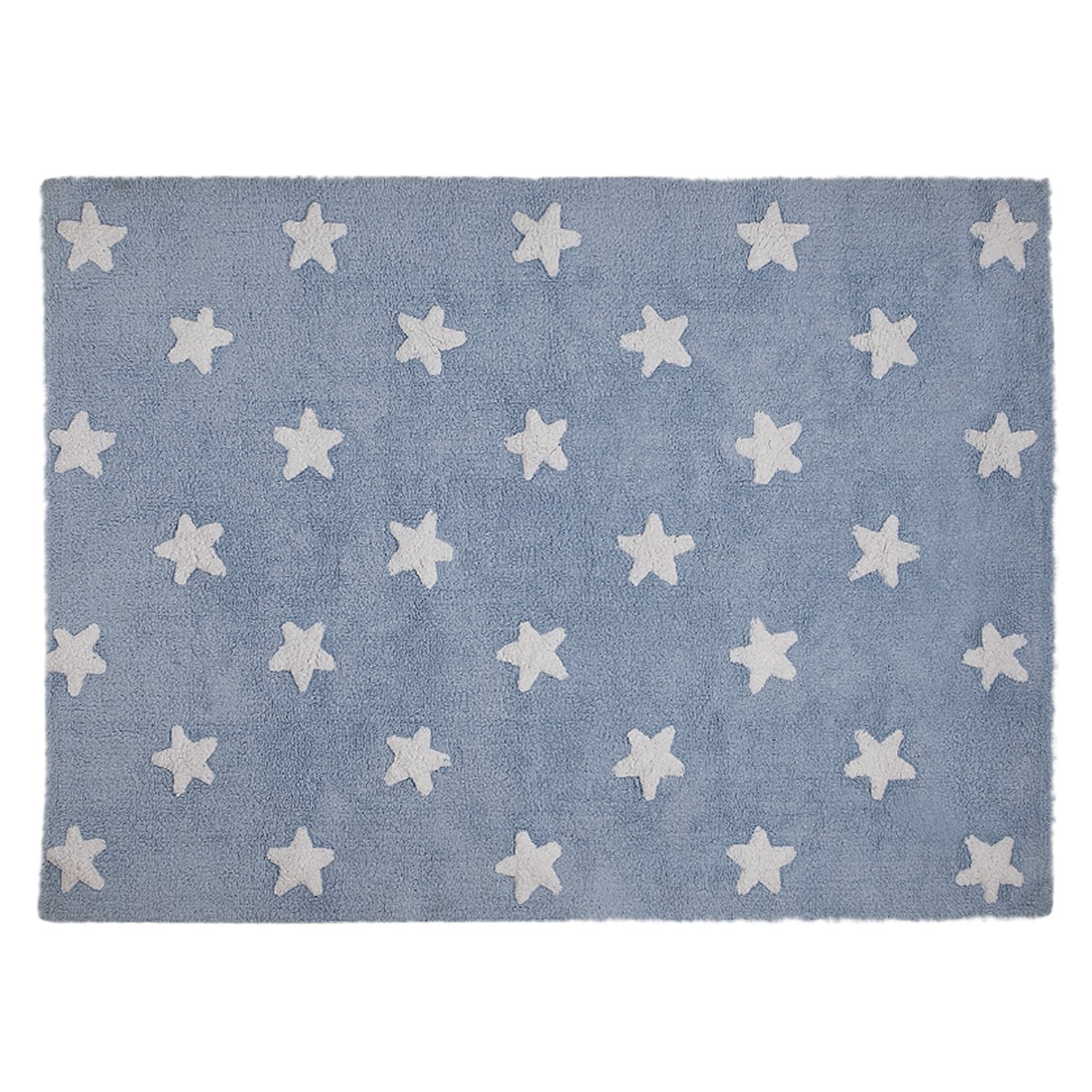 Lorena Canals Washable Rug (Blue Stars/White) Blue Stars White C-A-SW
