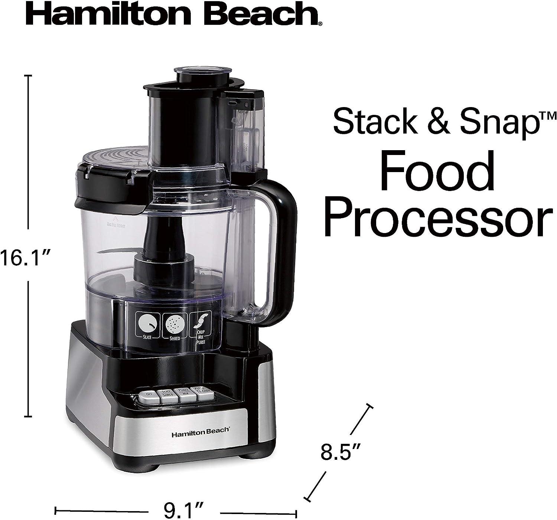 Hamilton Beach 70725A - Procesador de alimentos y cortador de verduras, 12 tazas, color negro: Amazon.es: Hogar