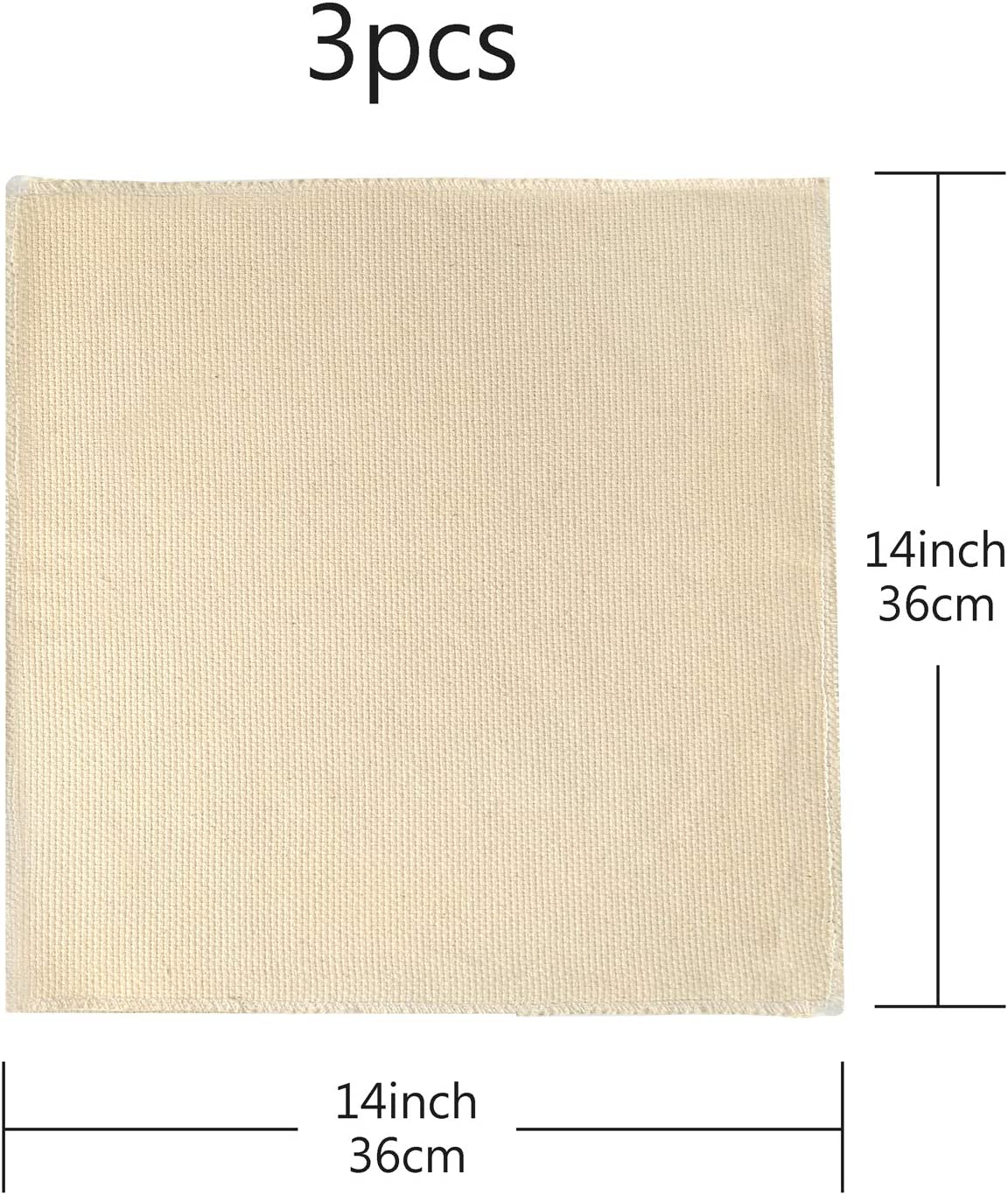 14 x 14 Inch Pllieay 3 Pieces Punch Needle Cloth Fabric Needlework Fabric for Punch Needle Embroidery Rug-Punch /& Pinch Needle
