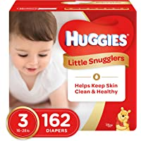 Huggies Little Snugglers Baby Diapers, Size 3, 162 Count