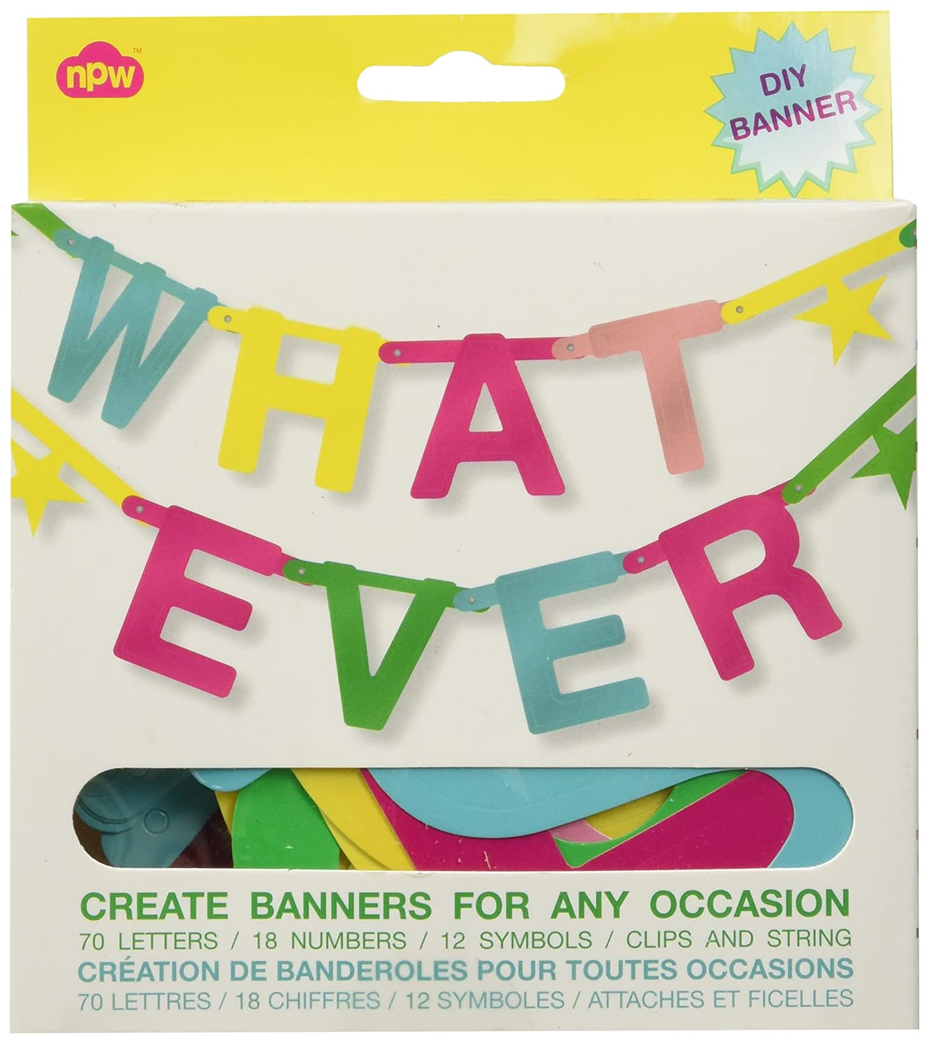 NPW W7541 Whatever Make Your Own Banner Kit no size Multicolor