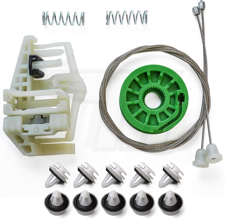 1 kit de reparación para elevalunas + 10 clips traseros derecho 51357140590 + 51411973500