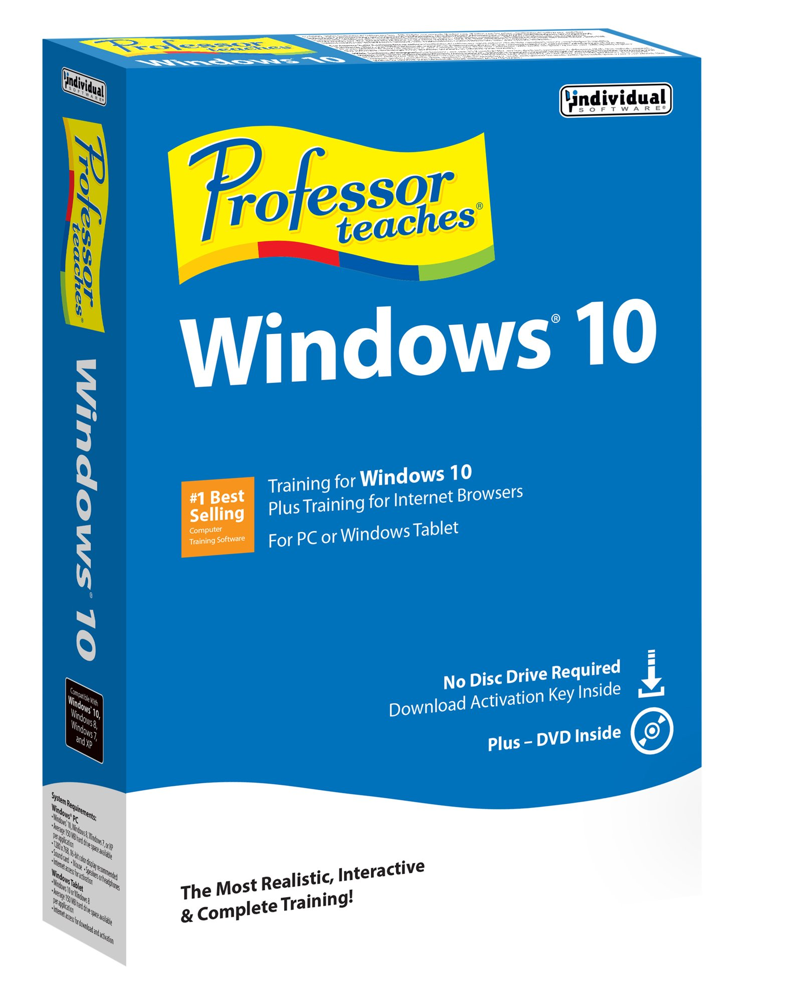 Professor Teaches Windows 10 by Individual Software