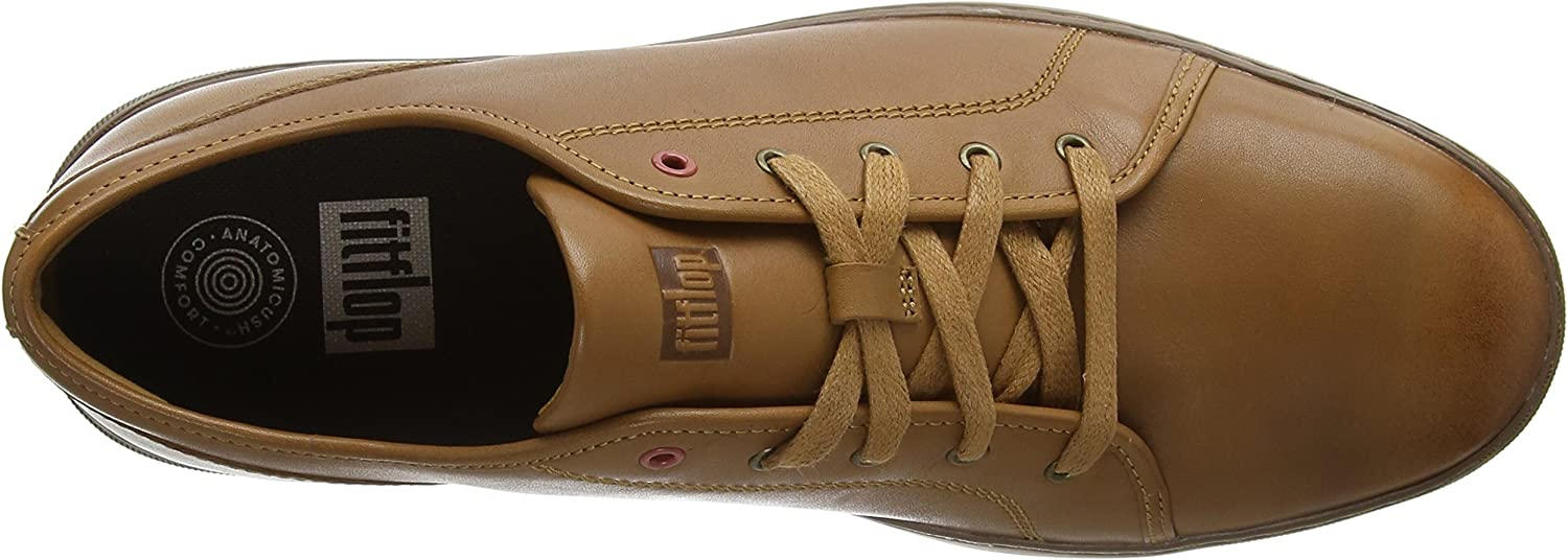 Fitflop Christophe Tumbled, Baskets Homme Marron Light Tan 592