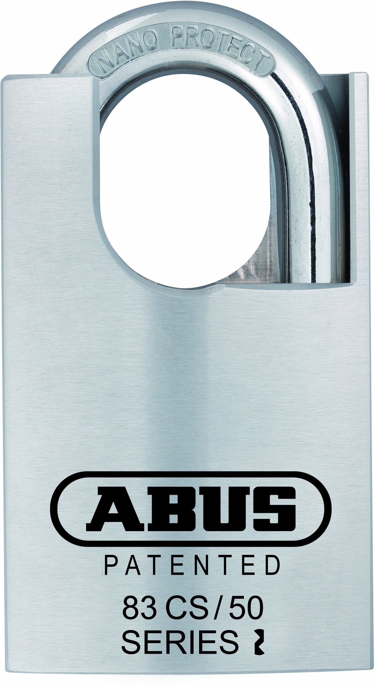 ABUS 83CS/50-300 S2 Schlage 50mm Rekeyable Padlock All Weather Solid Brass Chrome Plated Body, 1-Inch Closed Shackle, Zero-Bitted